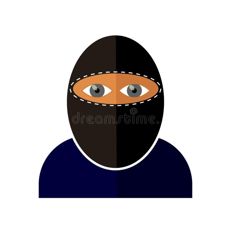 Icona del gangster isolata illustrazione vettoriale