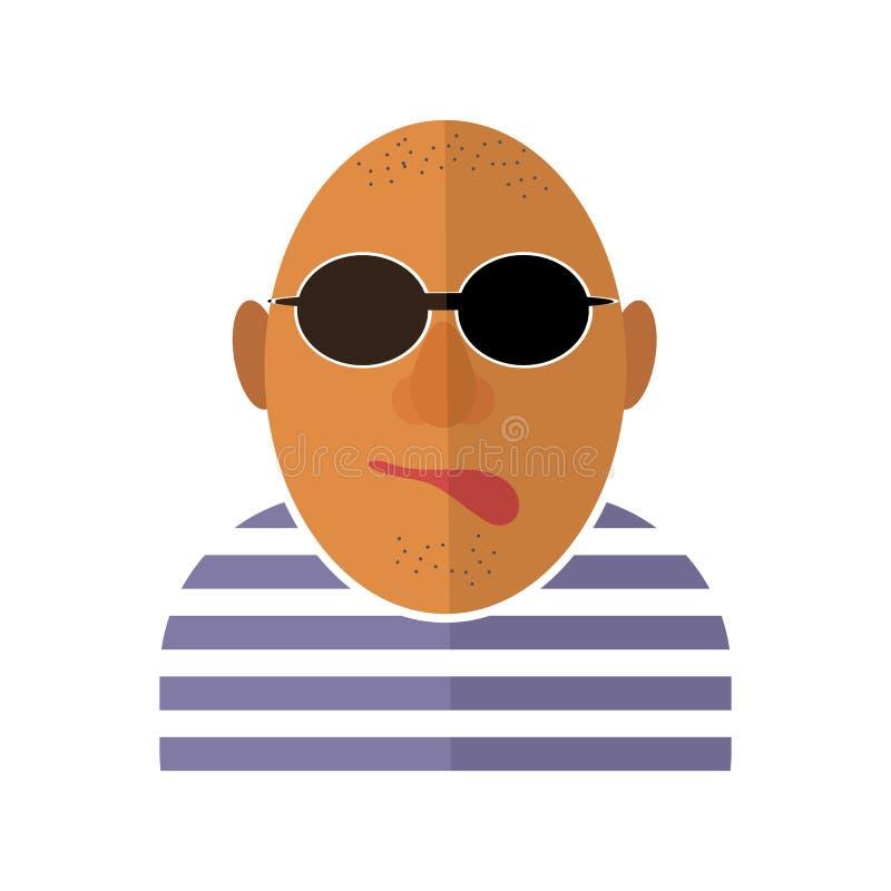 Icona del gangster isolata illustrazione di stock
