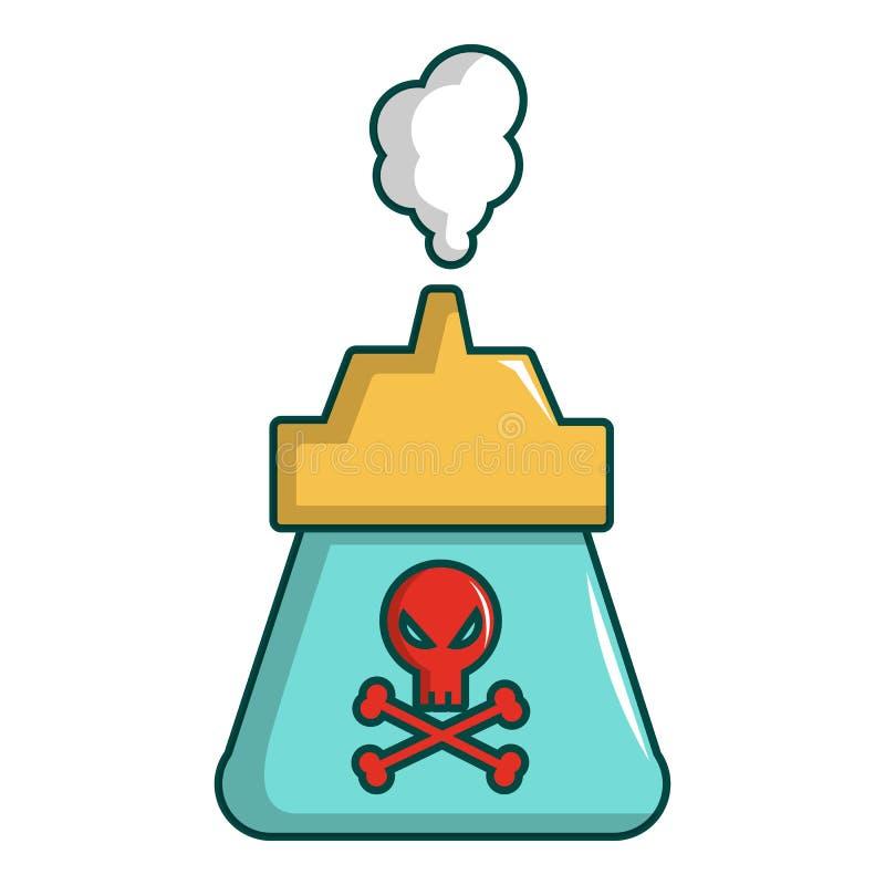 Icona del gas del parassita di uccisione, stile del fumetto illustrazione di stock