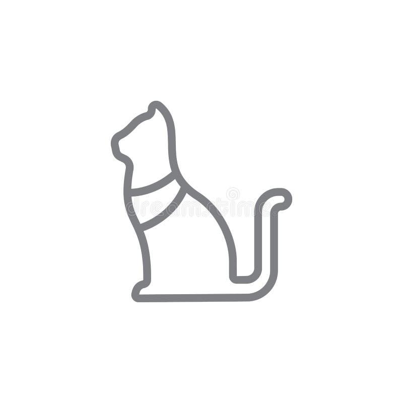Icona del gatto Elemento dell'icona di myphology Linea sottile icona per progettazione del sito Web e sviluppo, sviluppo di app I illustrazione vettoriale