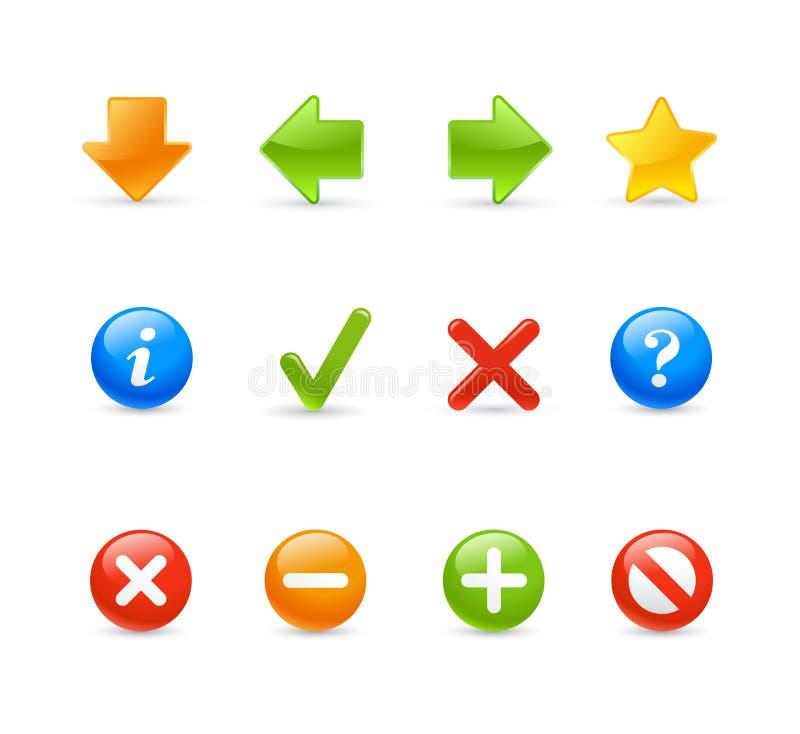 Icona del gel impostata - 2/percorso illustrazione di stock