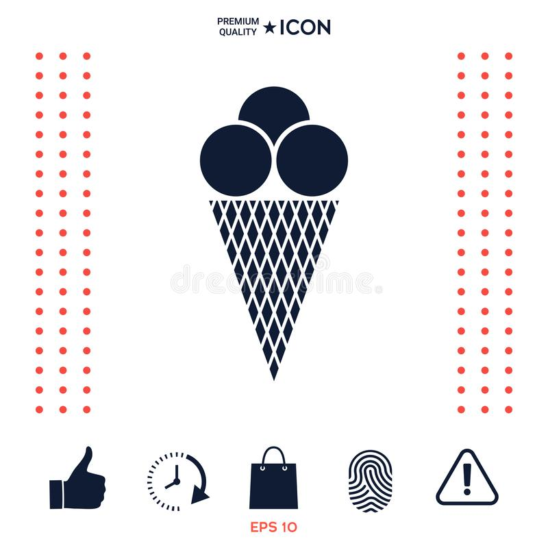 Download Icona del gelato illustrazione vettoriale. Illustrazione di congelato - 117975622