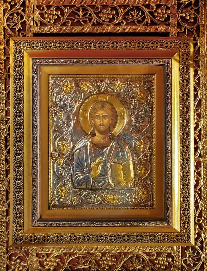 Icona del Gesù Cristo immagine stock