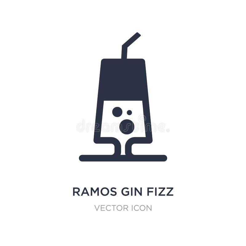 icona del gin Fizz del gin di Ramos su fondo bianco Illustrazione semplice dell'elemento dal concetto delle bevande royalty illustrazione gratis