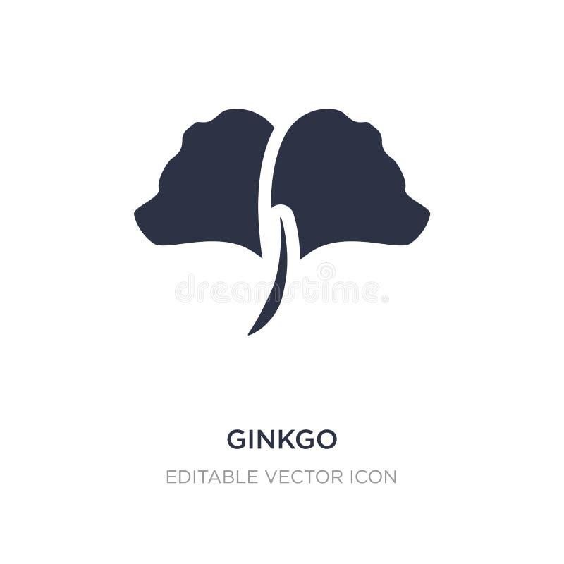 icona del ginkgo su fondo bianco Illustrazione semplice dell'elemento dal concetto della natura illustrazione vettoriale
