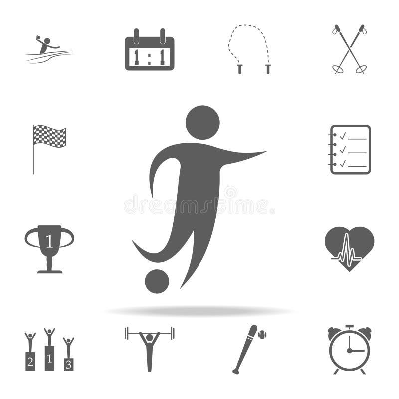 icona del giocatore di football americano Metta in mostra l'insieme universale delle icone per il web ed il cellulare royalty illustrazione gratis