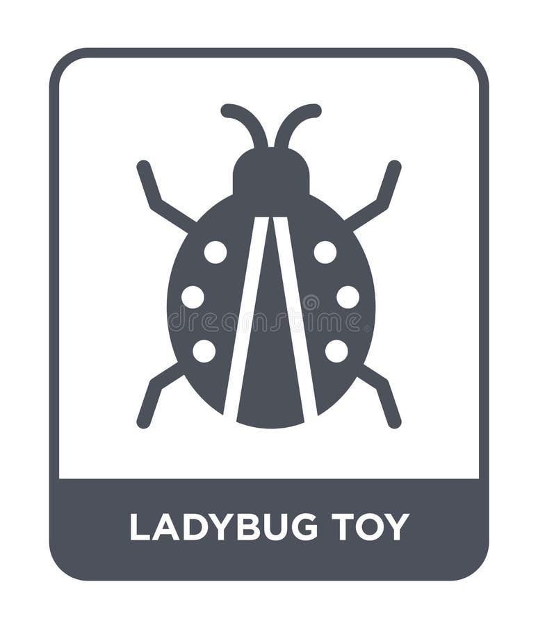 icona del giocattolo della coccinella nello stile d'avanguardia di progettazione icona del giocattolo della coccinella isolata su illustrazione di stock