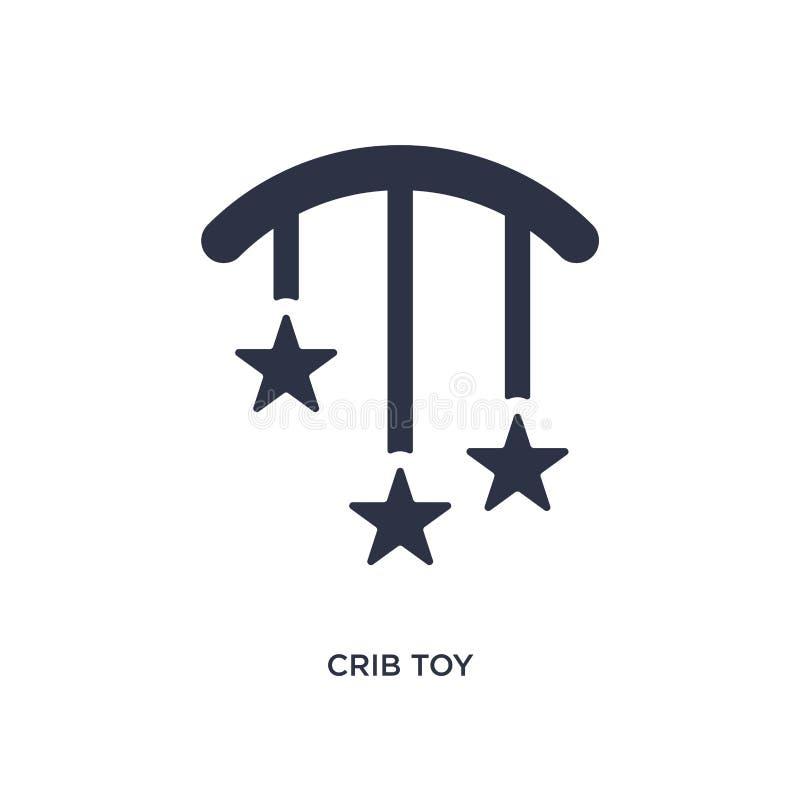 icona del giocattolo della greppia su fondo bianco Illustrazione semplice dell'elemento dal concetto del bambino e del bambino illustrazione di stock