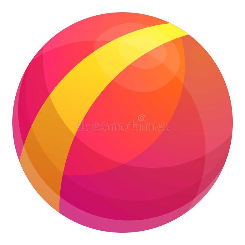 Icona del giocattolo della palla del bambino, stile del fumetto illustrazione di stock