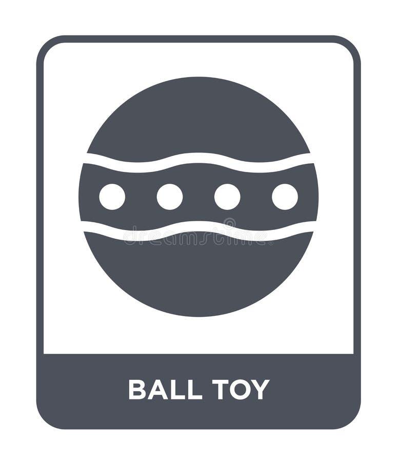 icona del giocattolo della palla nello stile d'avanguardia di progettazione icona del giocattolo della palla isolata su fondo bia royalty illustrazione gratis