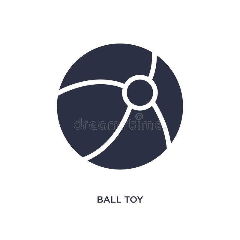 icona del giocattolo della palla su fondo bianco Illustrazione semplice dell'elemento dal concetto dei giocattoli royalty illustrazione gratis