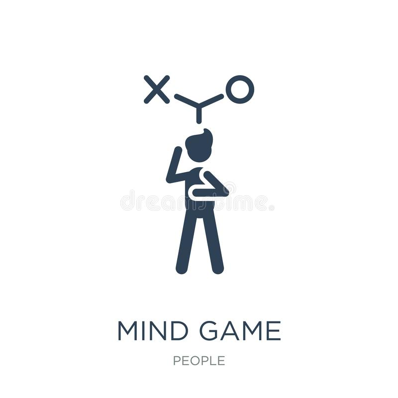 icona del gioco di mente nello stile d'avanguardia di progettazione icona del gioco di mente isolata su fondo bianco piano sempli royalty illustrazione gratis