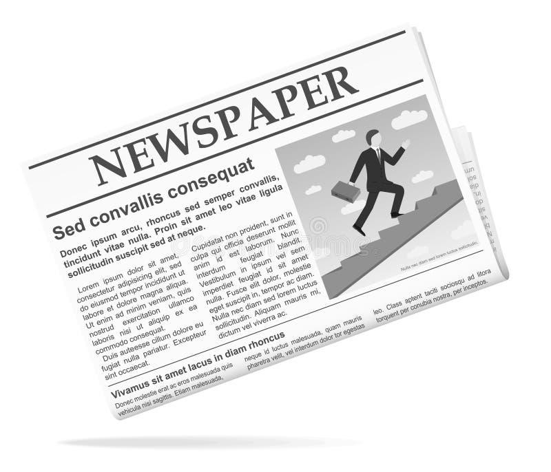 Icona del giornale illustrazione di stock