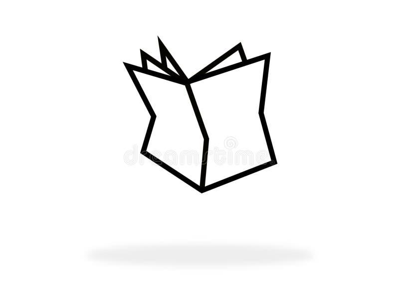 Icona del giornale con colore bianco illustrazione vettoriale