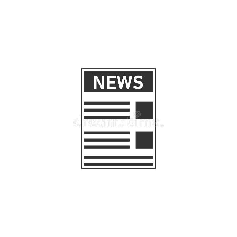 Icona del giornale piana illustrazione di stock