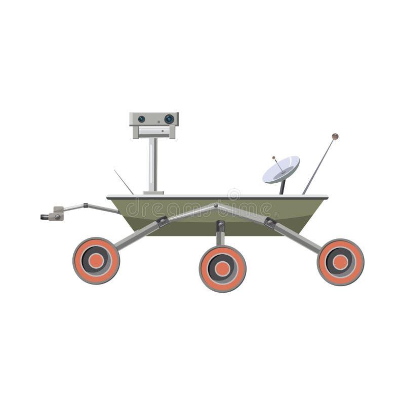 Icona del girovago di esplorazione di Marte, stile del fumetto royalty illustrazione gratis