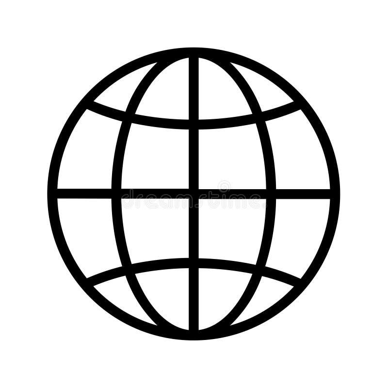 Icona del globo fotografie stock