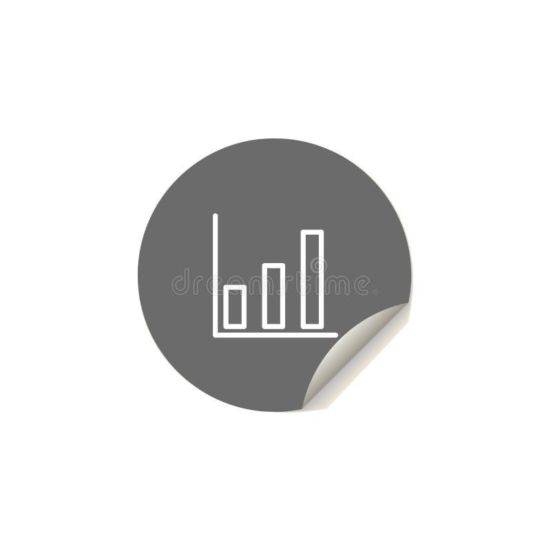 Icona del grafico di crescita Elemento delle icone di web per i apps mobili di web e di concetto L'icona del grafico di crescita  royalty illustrazione gratis