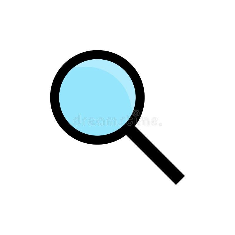 Icona del grafico di vettore della lente d'ingrandimento illustrazione vettoriale