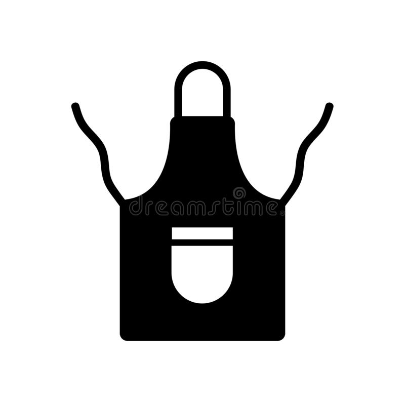 Icona del grembiule  illustrazione di stock