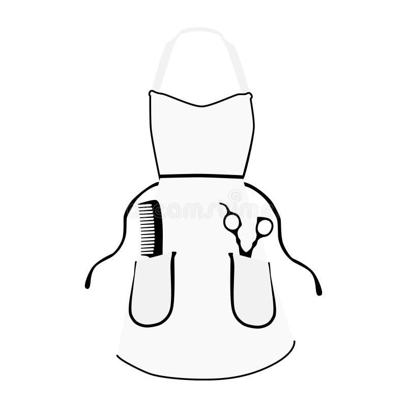 Icona del grembiule del barbiere illustrazione vettoriale