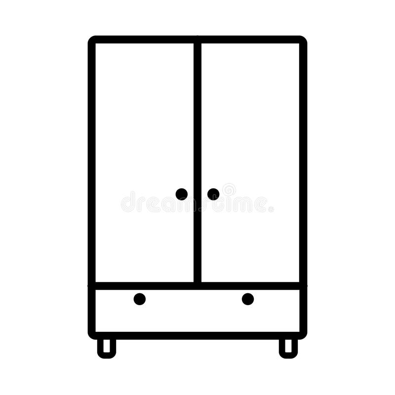 Icona del guardaroba illustrazione di stock