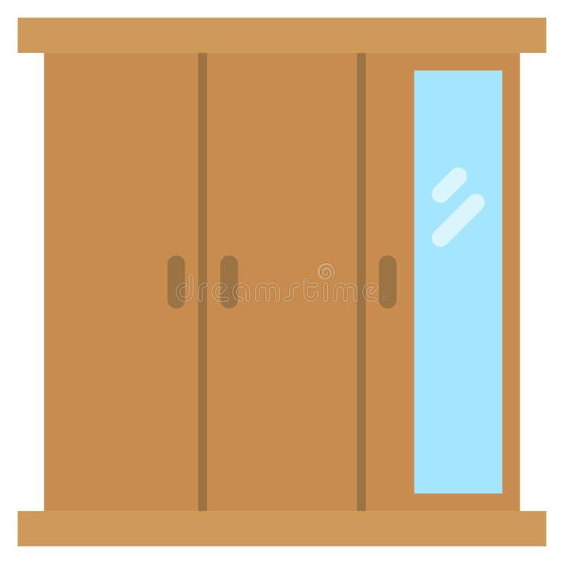 Icona del guardaroba con stile piano Illustrazione di vettore eps10 illustrazione vettoriale
