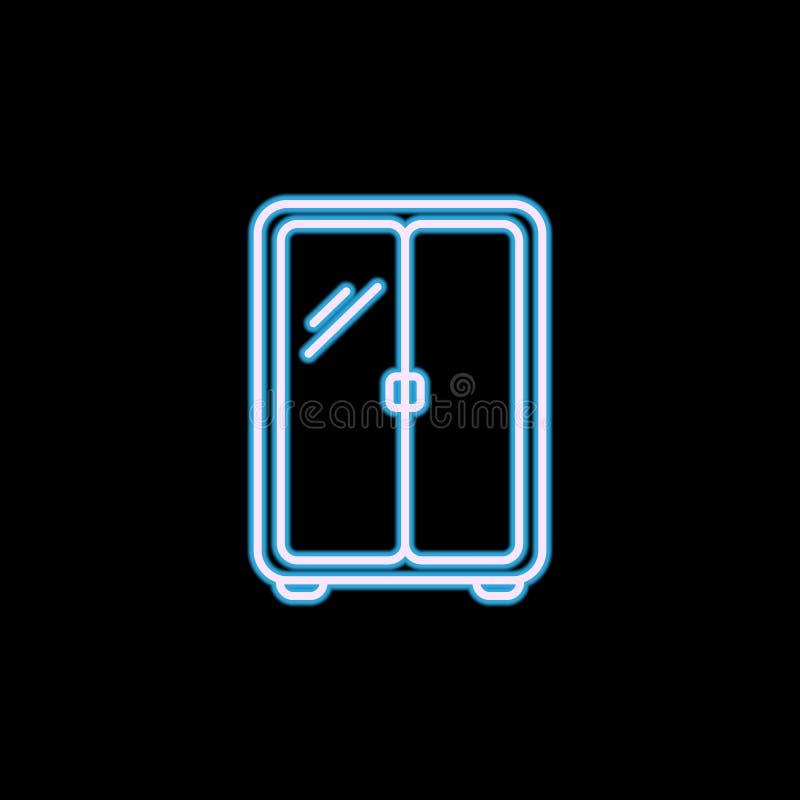 icona del guardaroba nello stile al neon Uno dell'icona della raccolta della mobilia può essere usato per UI, UX royalty illustrazione gratis