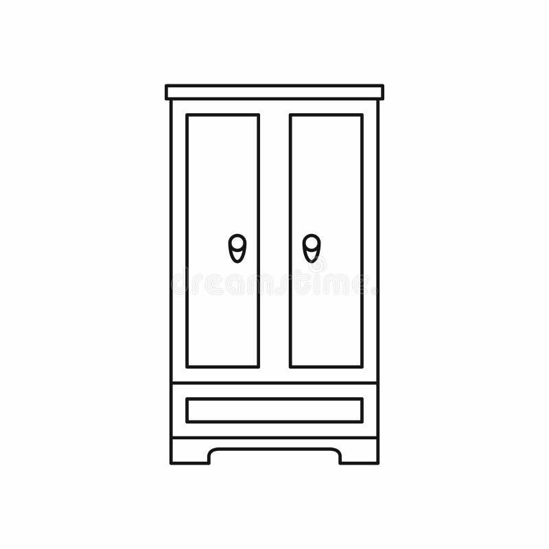 Icona del guardaroba nello stile del profilo illustrazione vettoriale