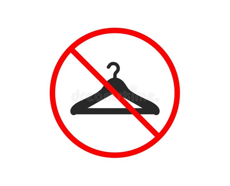 Icona del guardaroba Segno del guardaroba del gancio Vettore royalty illustrazione gratis