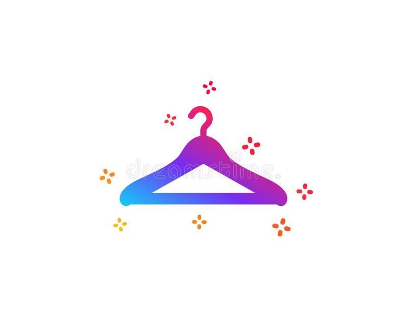 Icona del guardaroba Segno del guardaroba del gancio Vettore illustrazione vettoriale