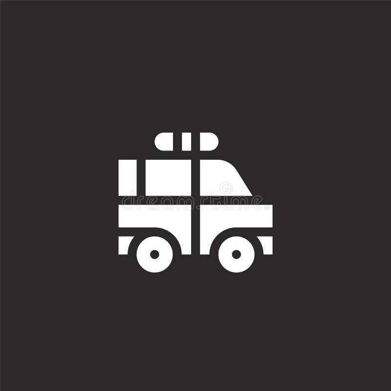 icona del guardia forestale di parco Icona riempita del guardia forestale di parco per progettazione del sito Web ed il cellulare illustrazione vettoriale
