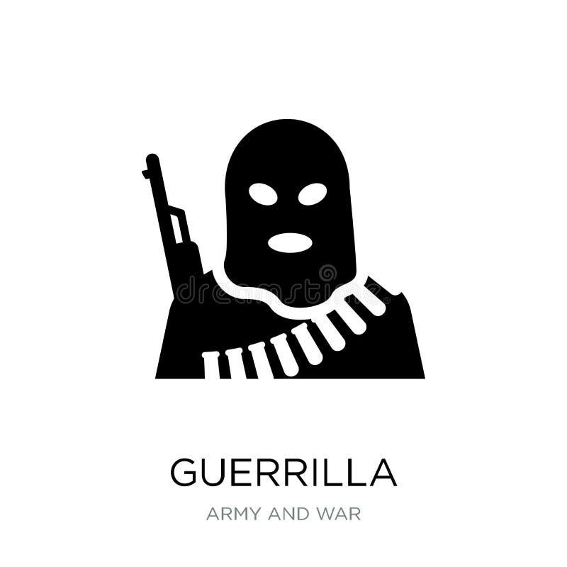 icona del guerrigliero nello stile d'avanguardia di progettazione icona del guerrigliero isolata su fondo bianco piano semplice e illustrazione vettoriale