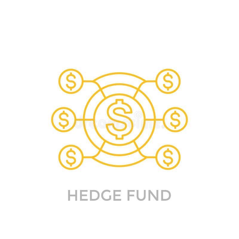 Icona del hedge fund su bianco illustrazione vettoriale