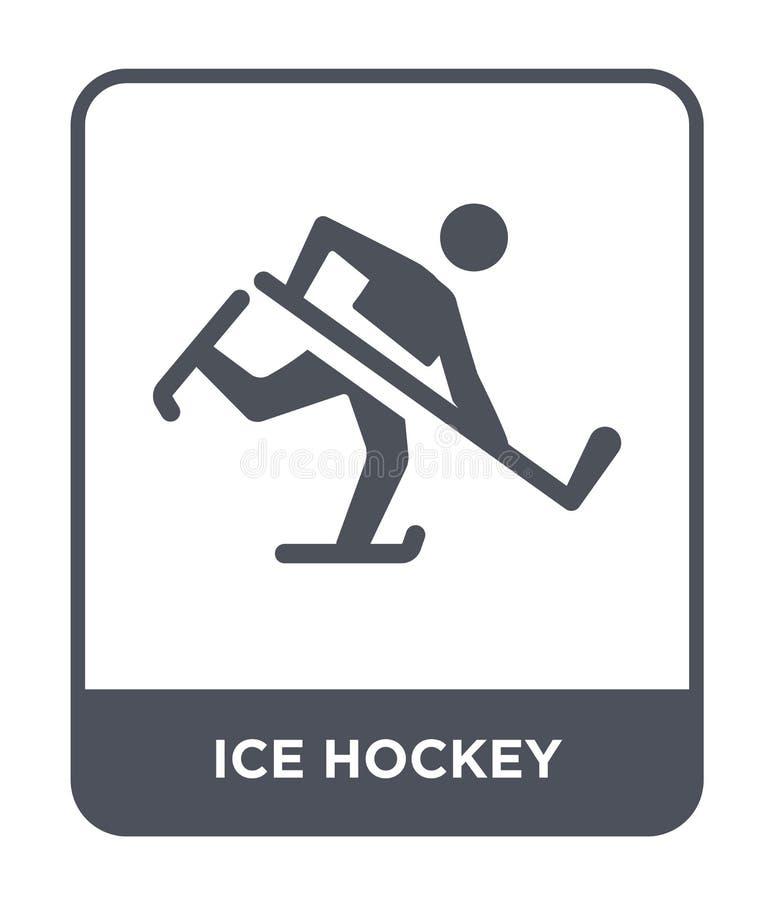 icona del hockey su ghiaccio nello stile d'avanguardia di progettazione icona del hockey su ghiaccio isolata su fondo bianco icon royalty illustrazione gratis