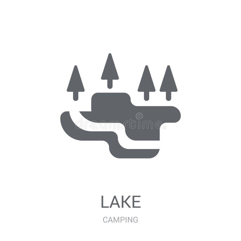 Icona del lago  illustrazione di stock