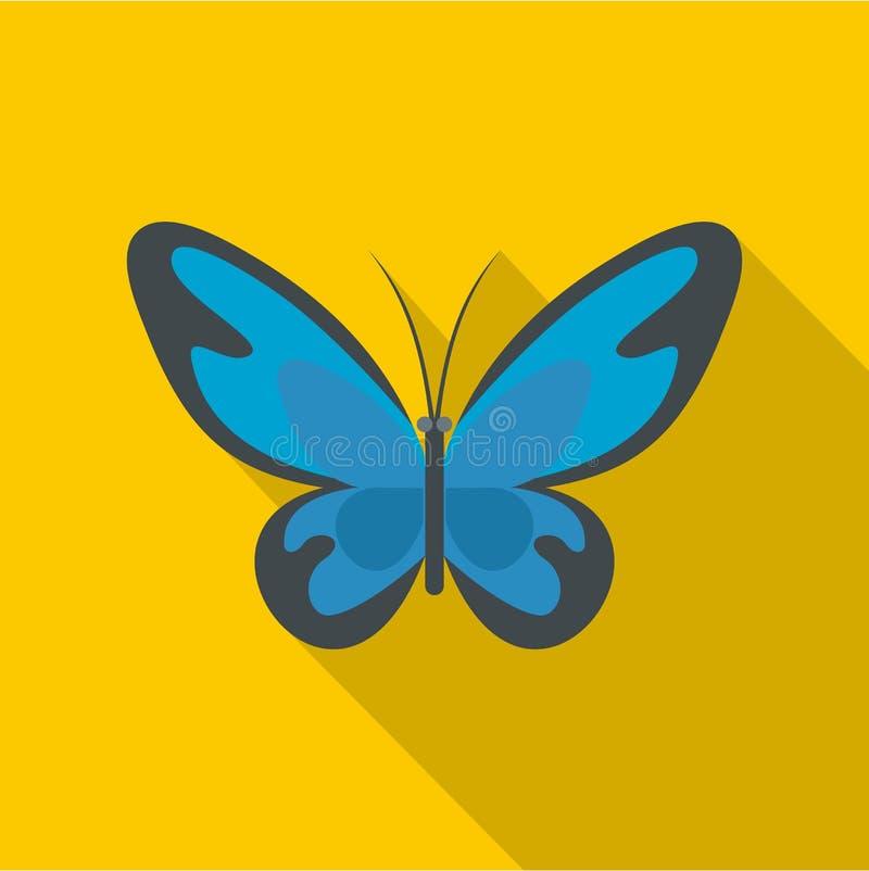 Icona del lepidottero di volo, stile piano illustrazione vettoriale