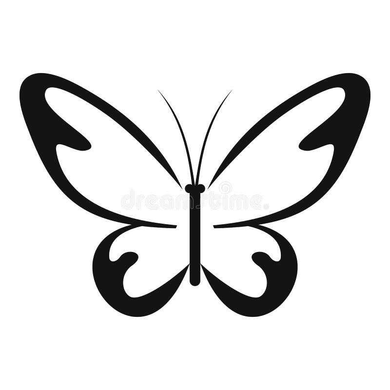 Icona del lepidottero di volo, stile semplice royalty illustrazione gratis