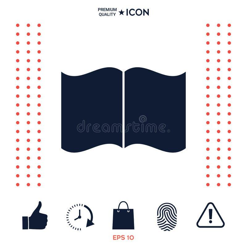 Download Icona del libro aperto illustrazione vettoriale. Illustrazione di pressa - 117976114