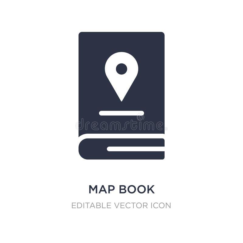 icona del libro della mappa su fondo bianco Illustrazione semplice dell'elemento dal concetto di viaggio royalty illustrazione gratis