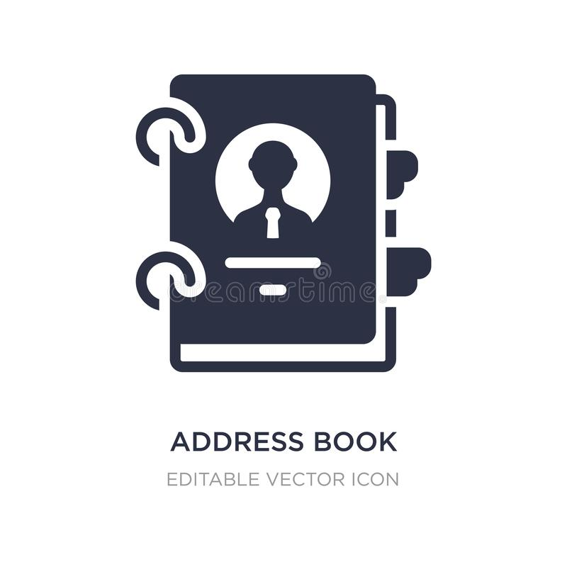 Icona del libro di indirizzo su fondo bianco Illustrazione semplice dell'elemento dal concetto di affari royalty illustrazione gratis