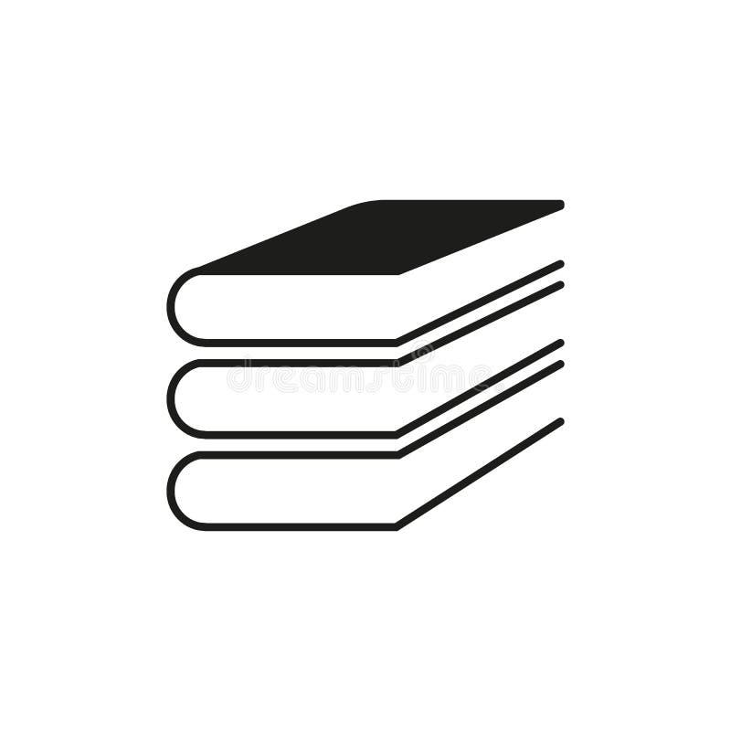 Icona del libro Disegno di vettore Simbolo delle biblioteche web grafico jpg ai app marchio oggetto piano immagine segno ENV Arte illustrazione vettoriale
