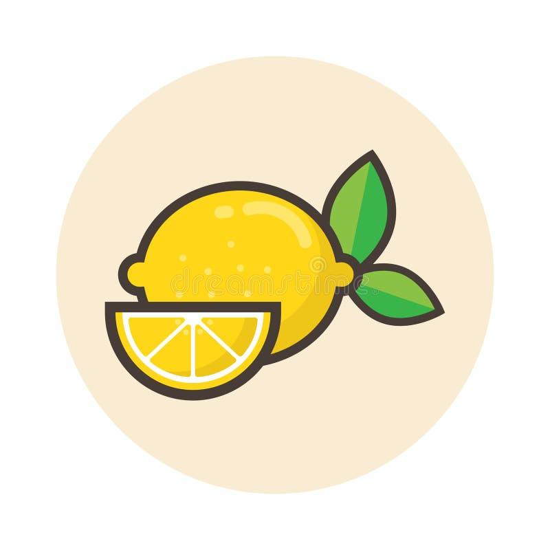 Icona del limone illustrazione vettoriale
