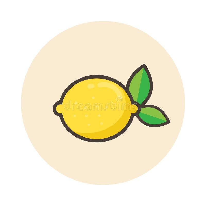 Icona del limone del fumetto royalty illustrazione gratis