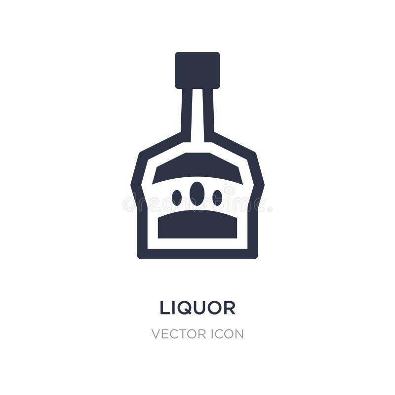 icona del liquore su fondo bianco Illustrazione semplice dell'elemento dal concetto delle bevande illustrazione di stock