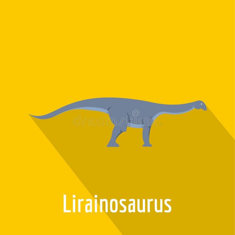 Icona del Lirainosaurus, stile piano illustrazione vettoriale