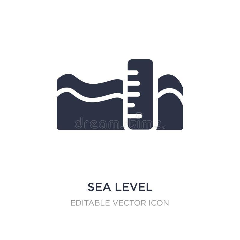 icona del livello del mare su fondo bianco Illustrazione semplice dell'elemento dal concetto del tempo royalty illustrazione gratis