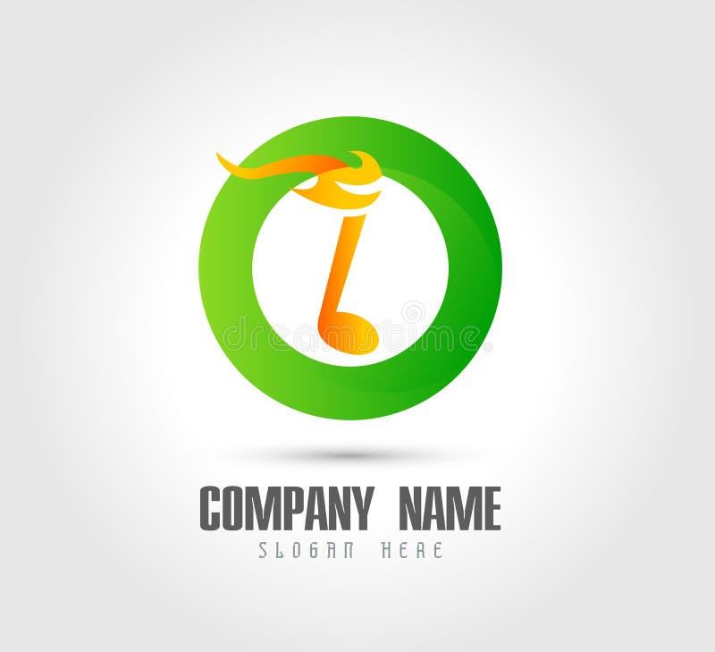 Icona del logo bruciante musicale del cerchio della nota Fuoco e simbolo di musica - illustrazione di vettore illustrazione vettoriale