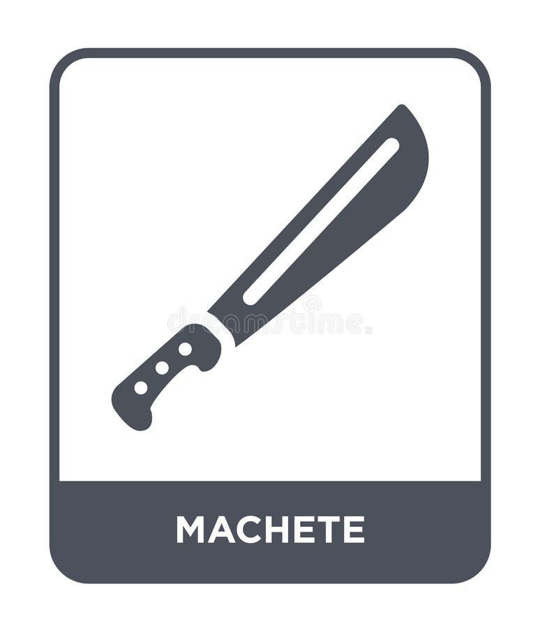 icona del machete nello stile d'avanguardia di progettazione icona del machete isolata su fondo bianco simbolo piano semplice e m illustrazione di stock