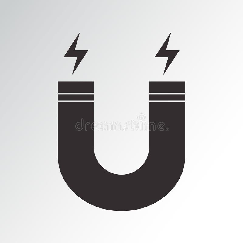Icona del magnete Illustrazione di vettore illustrazione vettoriale